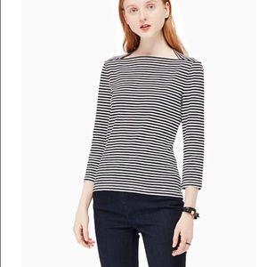 3/4 sleeve stripe everyday tee